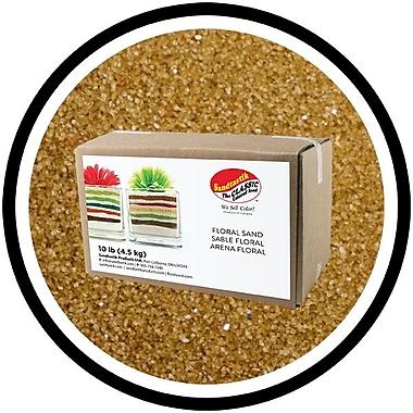 Sandtastik® Floral Coloured Sand, 10 lb (4.5 kg) Box, Ginger, 3/Pack