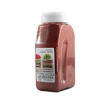 Sandtastik® Floral Coloured Sand, 28 oz (795 g) Bottle, Spiced Cider