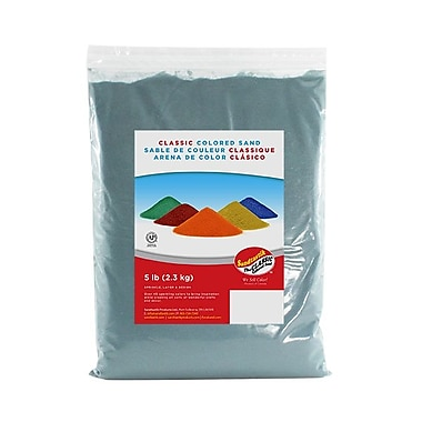 SandtastikMD – Sable classique coloré, sac de 5 lb (2,3 kg), turquoise, 6/paquet