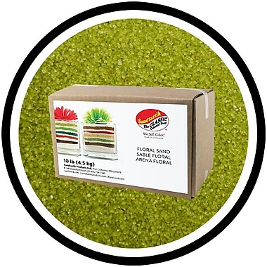 Sandtastik® Floral Coloured Sand, 10 lb (4.5 kg) Box, Cress Green