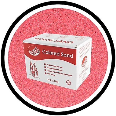 Sandtastik® Classic Coloured Sand, 10 lb (4.5 kg) Box, Bubblegum Pink