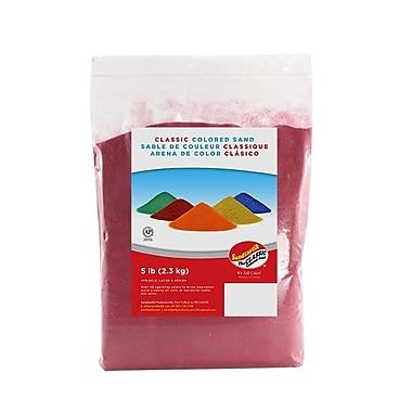 SandtastikMD – Sable coloré classique, sac de 5 lb (2,3 kg), bourgogne, 6/paquet