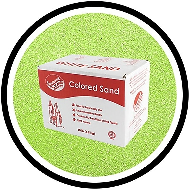 Sandtastik® Classic Coloured Sand, 10 lb (4.5 kg) Box, Fluorescent Green