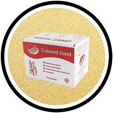 Sandtastik® Classic Coloured Sand, 10 lb (4.5 kg) Box, Peach, 3/Pack