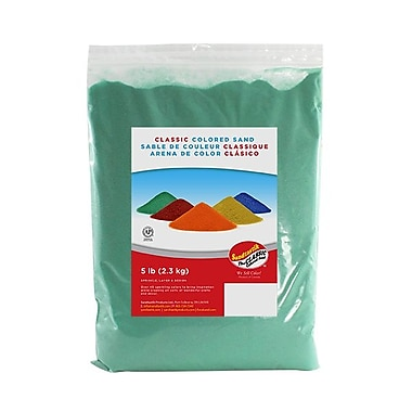 Sandtastik® Classic Coloured Sand, 5 lb (2.3 kg) Bag, Mint