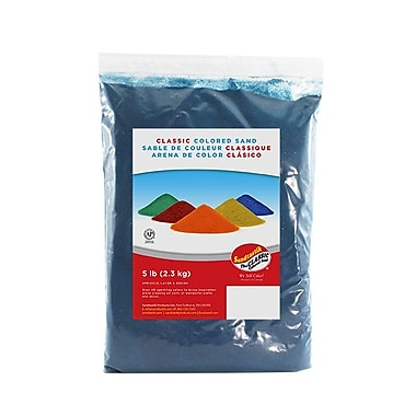 Sandtastik Classic Coloured Sand, 5 lb (2.3 kg) Bag, Teal, 6/Pack