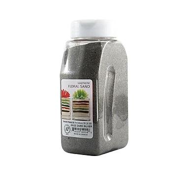 Sandtastik® Floral Coloured Sand, 28 oz (795 g) Bottle, Dark Silver