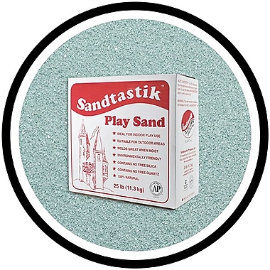 Sandtastik® Classic Coloured Sand, 25 lb (11.3 kg) Box, Aqua