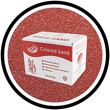 Sandtastik® Classic Coloured Sand, 10 lb (4.5 kg) Box, Cranberry