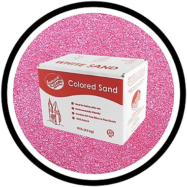 Sandtastik® Classic Coloured Sand, 10 lb (4.5 kg) Box, Magenta