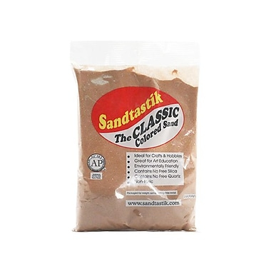 Sandtastik® Classic Coloured Sand, 2 lb (909 g) Bag, Cocoa