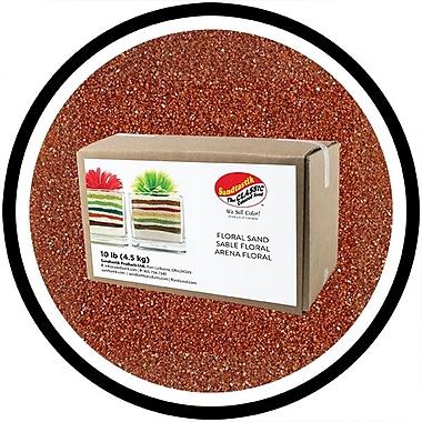 Sandtastik® Floral Coloured Sand, 10 lb (4.5 kg) Box, Marsala, 3/Pack