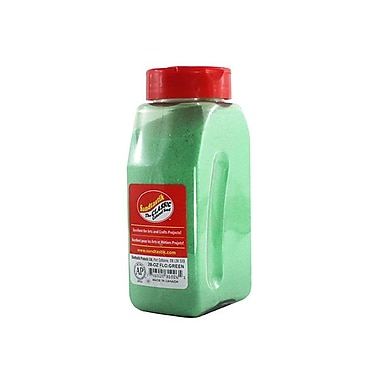 Sandtastik® Classic Coloured Sand, 28 oz (795 g) Bottle, Fluorescent Green, 8/Pack
