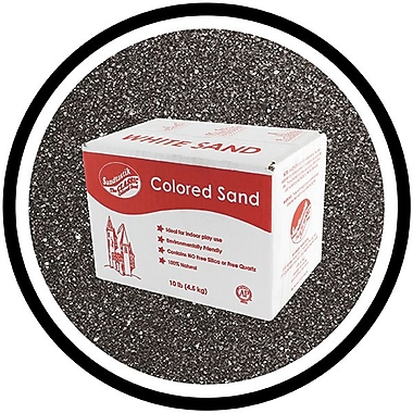Sandtastik® Classic Coloured Sand, 10 lb (4.5 kg) Box, Black