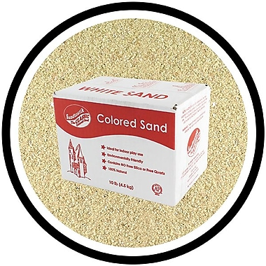 Sandtastik Classic Coloured Sand, 10 lb (4.5 kg) Box, Beach, 3/Pack