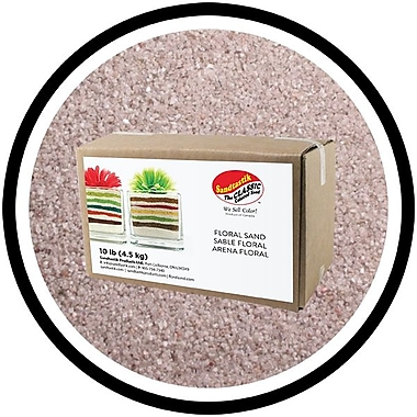 Sandtastik® Floral Coloured Sand, 10 lb (4.5 kg) Box, Light Silver