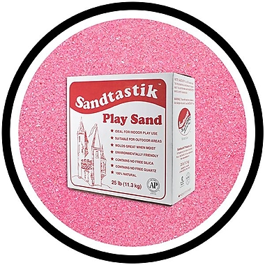 Sandtastik® Classic Coloured Sand, 25 lb (11.3 kg) Box, Pink