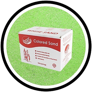 Sandtastik® Classic Coloured Sand, 10 lb (4.5 kg) Box, Light Green, 3/Pack