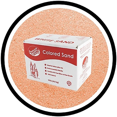 Sandtastik Classic Coloured Sand, 10 lb (4.5 kg) Box, Salmon, 3/Pack