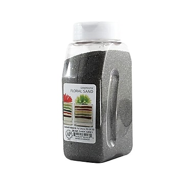 Sandtastik® Floral Coloured Sand, 28 oz (795 g) Bottle, Dark Grey