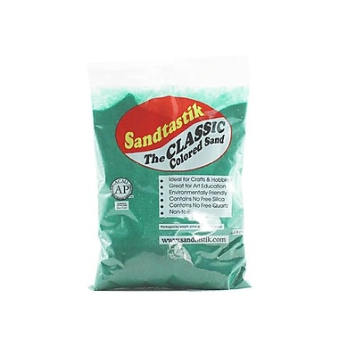 Sandtastik® Classic Coloured Sand, 2 lb (909 g) Bag, Emerald Green