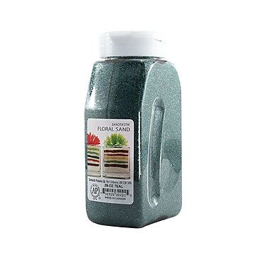 Sandtastik® Floral Coloured Sand, 28 oz (795 g) Bottle, Teal