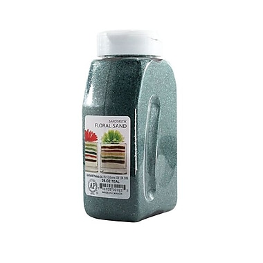 Sandtastik Floral Coloured Sand, 28 oz (795 g) Bottle, Teal, 8/Pack