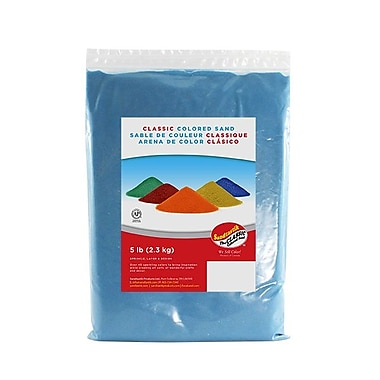 Sandtastik Classic Coloured Sand, 5 lb (2.3 kg) Bag, Light Blue, 6/Pack