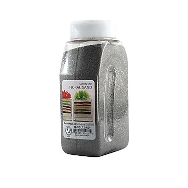 Sandtastik® Floral Coloured Sand, 28 oz (795 g) Bottle, Light Grey