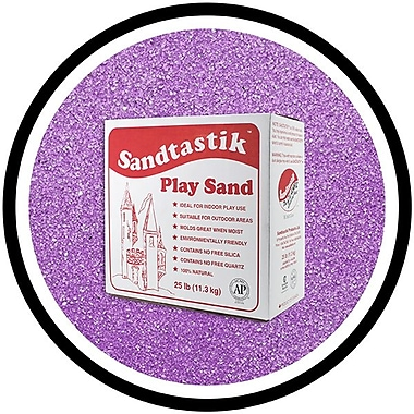 Sandtastik® Classic Coloured Sand, 25 lb (11.3 kg) Box, Ultraviolet