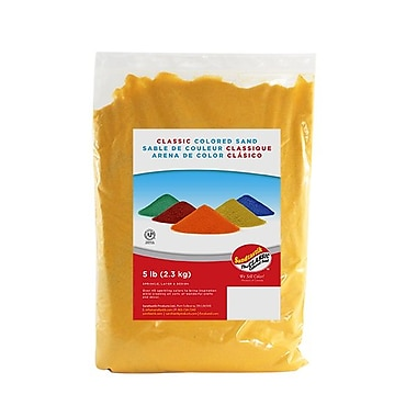 Sandtastik® Classic Coloured Sand, 5 lb (2.3 kg) Bag, Fluorescent Orange, 6/Pack