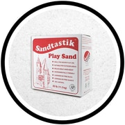 Sandtastik® Classic Coloured Sand, 25 lb (11.3 kg) Box, White