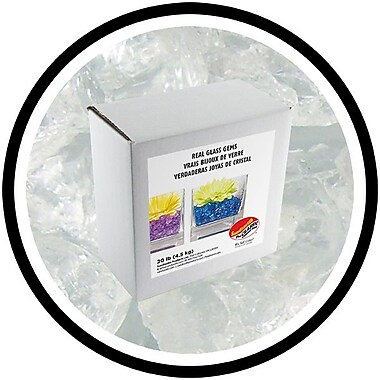 Sandtastik® Coloured ICE Gems, 20 lb, Clear Cubes