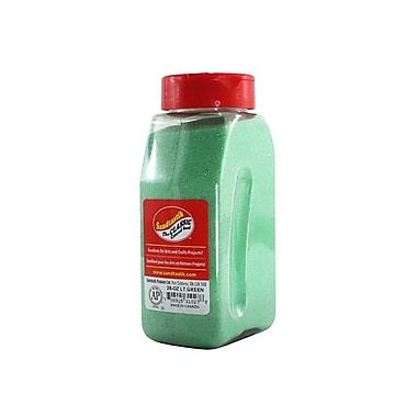 Sandtastik® Classic Coloured Sand, 28 oz (795 g) Bottle, Light Green