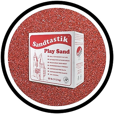 Sandtastik® Classic Coloured Sand, 25 lb (11.3 kg) Box, Cranberry
