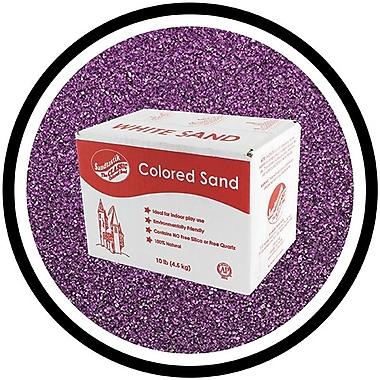 Sandtastik® Classic Coloured Sand, 10 lb (4.5 kg) Box, Purple