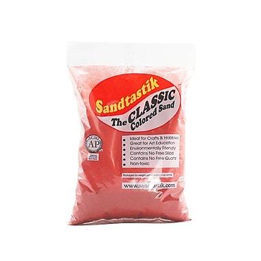 Sandtastik® Classic Coloured Sand, 2 lb (909 g) Bag, Coral, 12/Pack
