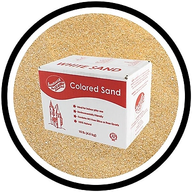 Sandtastik® Classic Coloured Sand, 10 lb (4.5 kg) Box, Tan