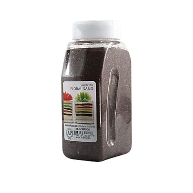 Sandtastik® Floral Coloured Sand, 28 oz (795 g) Bottle, Brick