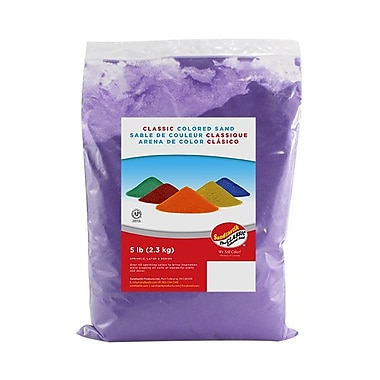 Sandtastik® Classic Coloured Sand, 5 lb (2.3 kg) Bag, Ultraviolet