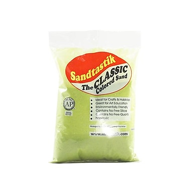Sandtastik® Classic Coloured Sand, 2 lb (909 g) Bag, Lime Yellow