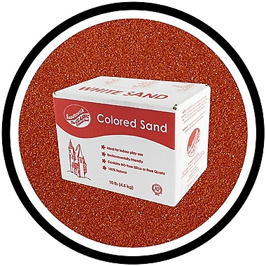 Sandtastik® Classic Coloured Sand, 10 lb (4.5 kg) Box, Marsala