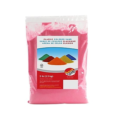 Sandtastik® Classic Coloured Sand, 5 lb (2.3 kg) Bag, Pink
