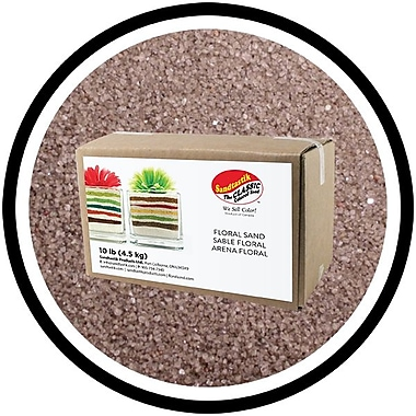 Sandtastik Floral Coloured Sand, 10 lb (4.5 kg) Box, Dark Silver, 3/Pack