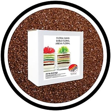 Sandtastik® Floral Coloured Sand, 25 lb (11.3 kg) Box, Coffee