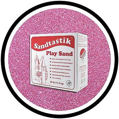 Sandtastik® Classic Coloured Sand, 25 lb (11.3 kg) Box, Mauve