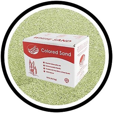 Sandtastik® Classic Coloured Sand, 10 lb (4.5 kg) Box, Moss Green