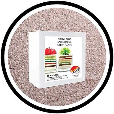 Sandtastik® Floral Coloured Sand, 25 lb (11.3 kg) Box, Light Silver