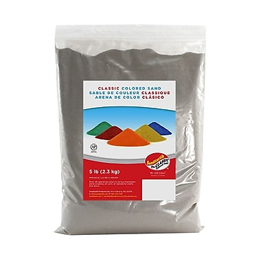 Sandtastik® Classic Coloured Sand, 5 lb (2.3 kg) Bag, Silver
