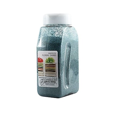 Sandtastik® Floral Coloured Sand, 28 oz (795 g) Bottle, Caribbean Mist